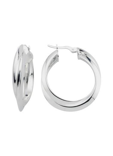 Bendis Design Çiftli Halka Küpe Gümüş